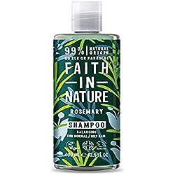 Faith in Nature - Shampoo Naturale al 100% Con Rosmarino Per tutti I Tipi di Capelli - Per Lavaggi Frequenti - Senza Parabeni - Vegano