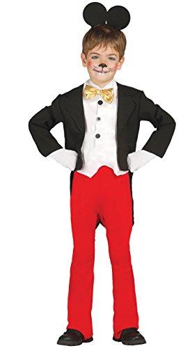 (berühmte Maus - Kostüm für Kinder Gr. 98 - 134, Größe:128/134)