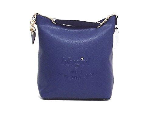 Blugirl borsa donna a spalla, 829004, ecopelle blu A6102