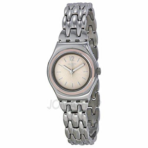 Swatch SReloj Discretamente Gris Dial Acero inoxidable Acero Damas Reloj YSS285G