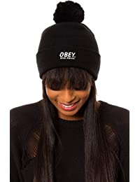 Obey - Bonnet Homme Worldwide Pom Pom Beanie - Black