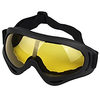 Andux Zone Airsoft Goggles Anti-fog Anti-glare Lenses, Tactical Eyewear Anti-Slip UV Protection for Paintball, Motorcycle, Skiing, Snowboard, Riding, Cycling, Outdoor GL-04 (yellow)