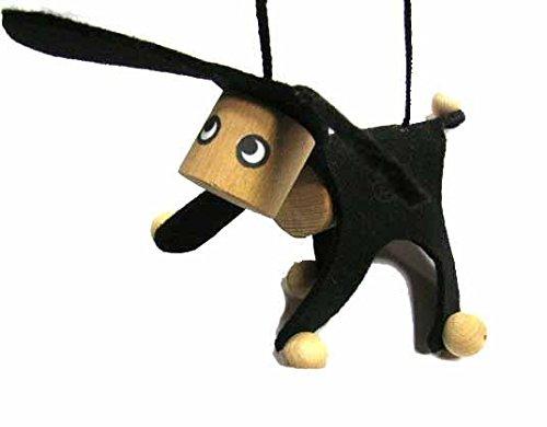 e Kindermarionette Holz Filz Kalle Fux Kinder Kind Esel Hund schwz ()