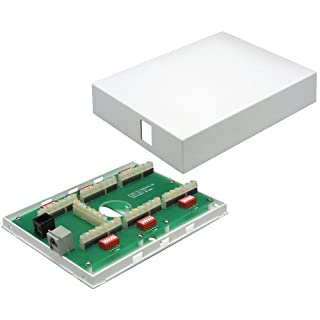Allen Tel Products GB33645-L2 Network Media Box Enclosure with 1 Telco 6 Line Circuit Module, 1 RJ31-X Security Alarm Jack