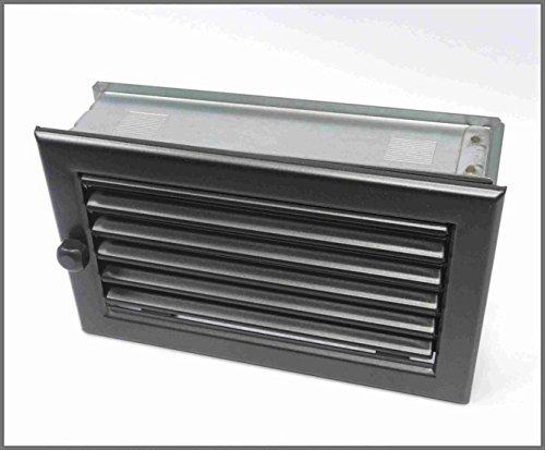 Griglia di ventilazione 15/25Aria Tubo porta aria calda griglia aria fredda Fire Guard/Jalousie decorativa per (Camino Di Ventilazione Tubo)