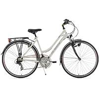 KS Cycling Damen Fahrrad Trekkingrad Vegas RH Flachlenker, Weiß, 28 Zoll, 113T