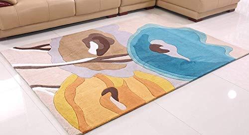 blanket Waschen und Staubsaugen Teppich im europäischen Stil Land Welt Moderne Wohnzimmer Couchtisch Schlafzimmer Nachttisch Handmade Verdickung Teppich Home Daily Mat,140 * 200 cm,#3 -
