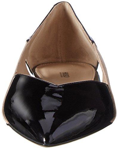 Hugo Gwen 10195629 01, Ballerines Femme Noir (Black 3)