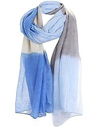 Fulares Para mujer, Bufanda de impresión de flores - Kukul Voile Scarf Warm Wrap Shawl (90cm*190cm)