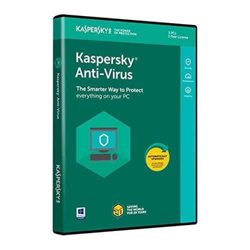 Kaspersky 3PC antivirus 2018Protezione 1Anno di abbonamento Disc-Less