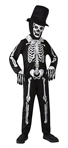(Bristol Novelty Skelett Knochen Zombie Kostüm (L) Kinder Alter 7–9Jahre)