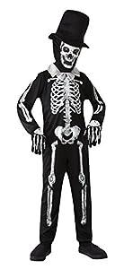 Bristol Novelty CC483esqueleto hueso Zombie Costume, blanco, pequeño, 110-122cm, aprox. Edad 3-5años, esqueleto hueso Zombie (S)