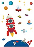 Janod J02846 Magneti' stick 'Rakete', selbstleuchtend