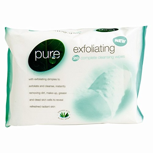 Pure Exfoliating Cleansing Wipes Make Up Remover Hallowe'en Fancy Dress Kids Facepainting