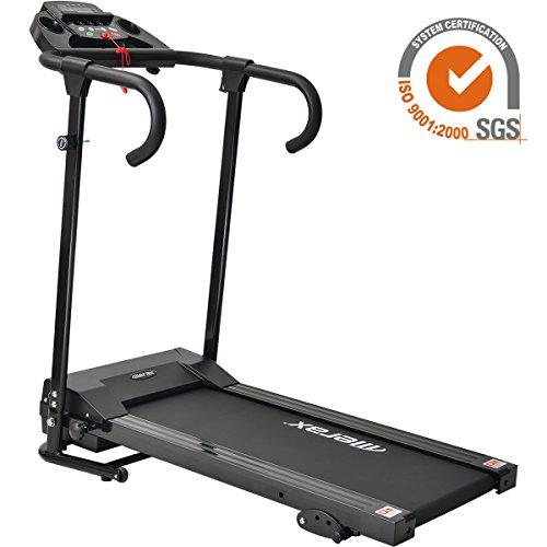 Merax® Laufband Elektrisches Fitnessgerät Klappbarer Heimtrainer verstaubar kompakt mit LCD-Display Tablethalterung