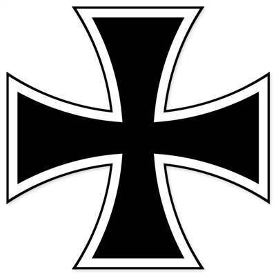 Aufkleber / Autoaufkleber / Sticker / Decal German Iron Cross Bumper Sticker WWII 127mmx127mm -