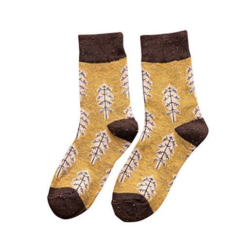 Christmas Tree Floor Socken warme weiche Frauen Mädchen Weihnachten Urlaub Strümpfe ()