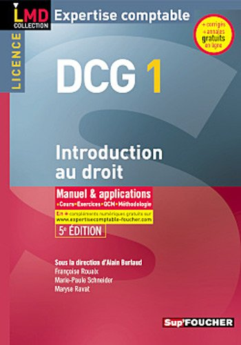 DCG 1 Introduction au droit 5e édition