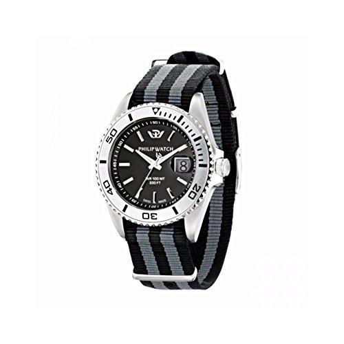 Reloj Philip Watch Caribe r8251597002al cuarzo (batería) acero quandrante negro correa–No applicabile