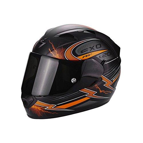 Preisvergleich Produktbild Scorpion Helm Motorrad exo-1200 Air Fulgur,  matt black / orange,  M