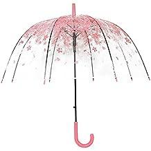 Paraguas transparente - Paraguas Sakura - Paraguas de cerezo claro - Paraguas de burbuja para lluvia
