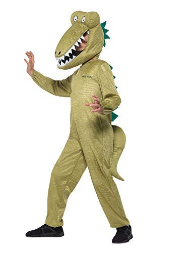 Roald Dahl Kostüm Tag - Smiffys SMIFFY 'S 41541L Offizielles Lizenzprodukt Roald Dahl Deluxe riesengroße Krokodil Kostüm, grün, L-UK Alter 10-12Jahre