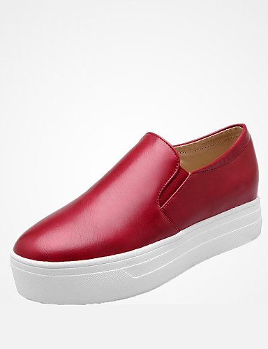 ZQ Scarpe Donna - Ballerine - Tempo libero / Ufficio e lavoro / Casual / Sportivo / Serata e festa / Scarpe comode - Punta arrotondata - , red-us10.5 / eu42 / uk8.5 / cn43 , red-us10.5 / eu42 / uk8.5  blue-us5 / eu35 / uk3 / cn34