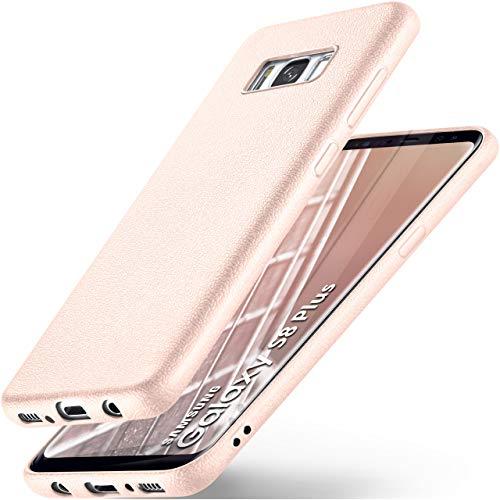 ONEFLOW Samsung Galaxy S8 Plus | Hülle Silikon Rosé-Pink in Leder Optik Flex Back-Cover Schutzhülle Etui Handy-Hülle für Samsung Galaxy S8+ Plus Case Ultra-Slim Silikonhülle Tasche