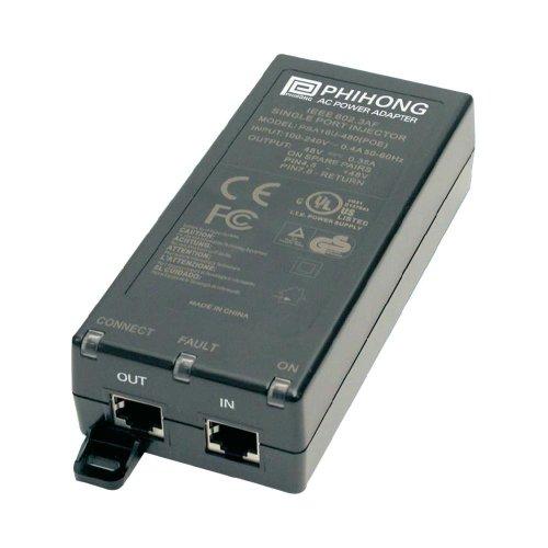 PHIHONG® 15,4W / 48V Single Port PoE Adapter PSA16U-480(POE) nach IEEE 802.3af ; Power over Ethernet!