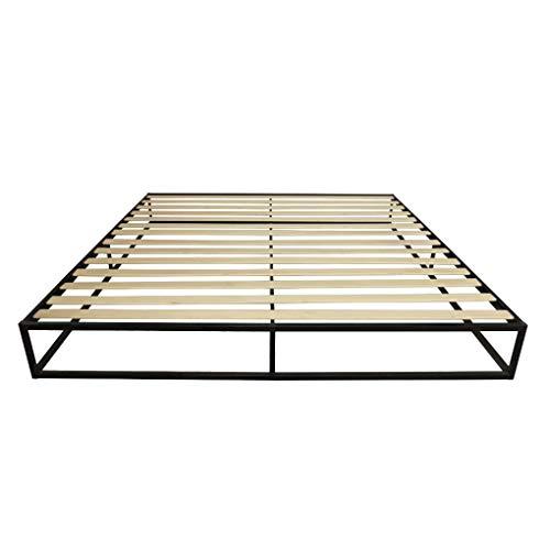 Nowear Holzleisten aus Metall Einfache Bettrahmen Plattform Schlafzimmer Matratze Grund Foundation Basis King Size -