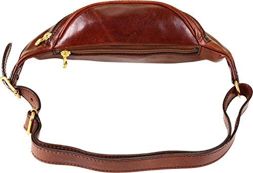 Sac en cuir brun STORY VIAGGIO Sacoche bananes the Bridge 078004/01/14 braun