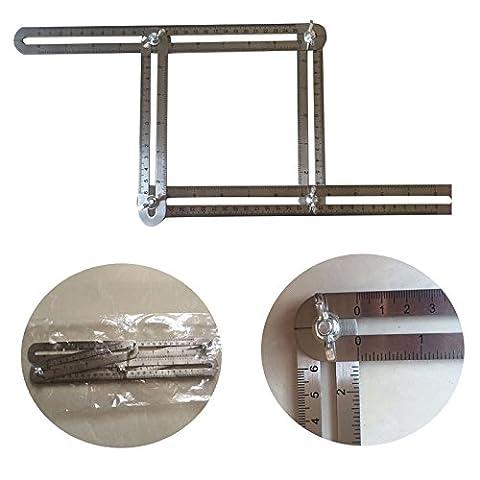 Lanlan angle-izer Vorlage Werkzeug, 4-teilig Edelstahl Multi Winkel MESS-Werkzeug für Handwerker, Heimwerker oder (Augenbraue-formen Stencils)