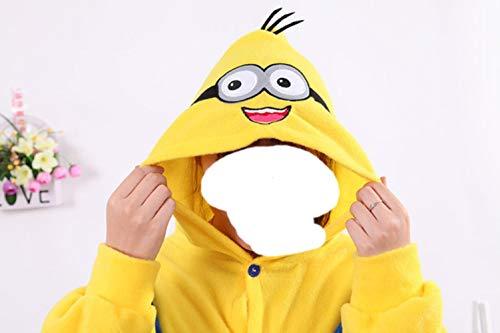 Kostüm Minions Kid - New Yellow Minions-Kostüm-Frauen-Pyjamas Kid Erwachsene Animelattich Pyjama-Party Weibliche Nachtwäsche Minion Onesies für Kind M, Lachen, XS