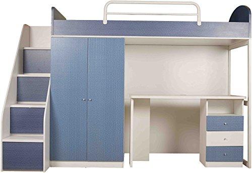 Child Space Space Saver Single Size Bed (Melamine Finish, Blue)