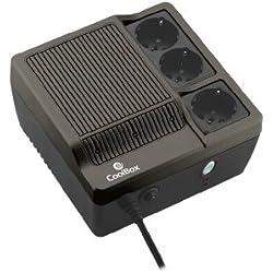 CoolBox Sai Scudo 600 Alimentation d'énergie Non interruptible 600 VA 3 Sortie(s) CA - Alimentations d'énergie Non interruptibles (600 VA, 300 W, 180 V, 270 V, 50 Hz, 3 Sortie(s) CA)