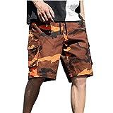 Binggong Herren Cargo Shorts Camouflage Trainingsshorts Sommer Bermuda Short Große Größen Sporthose Atmungsaktive Sommershorts