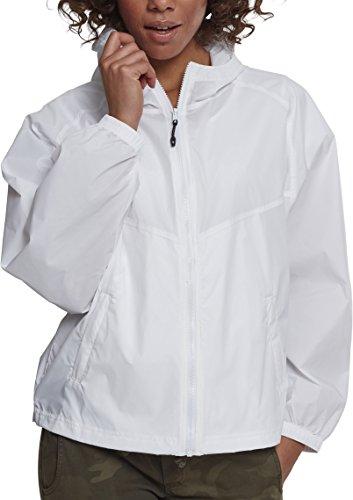 Urban Classics Damen Ladies Oversize Windbreaker Jacke, Weiß (White 00220), Small (Herstellergröße: S) - Wie Womens Raglan-Ärmel