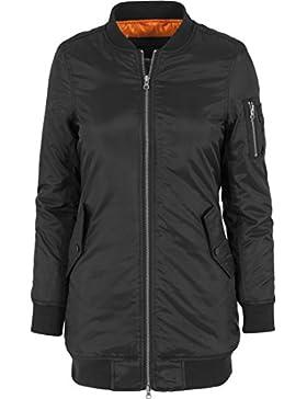 Urban Classics Jacke Long Bomber Jacket, Chaqueta para Mujer