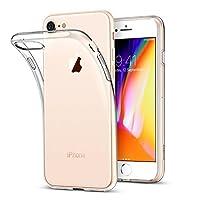 iPhone 8 Kılıf Kapak 0.2 mm Şeffaf Silikon + Temperli Kırılmaz Cam Ekran Koruyucu