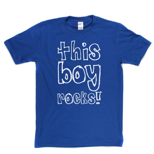 This Boy Rocks Rock Star Lad Teen Teenager Music Tee T-shirt Königsblau