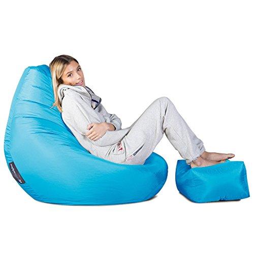 Highback Gaming Sitzsack Loungesessel - Aqua - 3