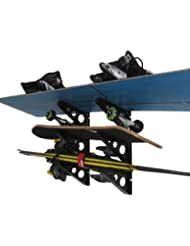 Estante de almacenamiento de esquí y snowboard