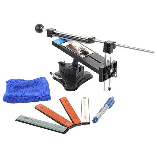 KKmoon Upgraded Küchen- Messerschärfer Sharpemaker Kits System 4 mit Festen Winkel