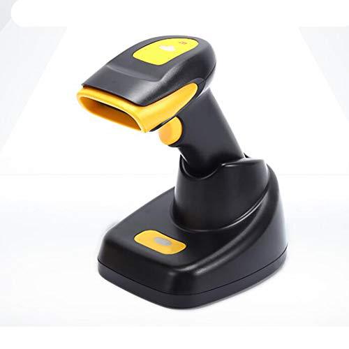 BTASS Wireless Barcode Scanner 2 in 1 kabelloser und kabelgebundener 1D 2D-Laser-Barcode-Leser, 2000-mAh-Akku, für Geschäft, Supermarkt, Lager