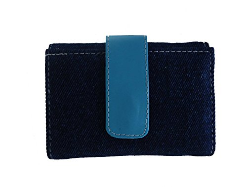Modish Look Casual Jeans Women's Comfortable Wallet with Mirror (Blue)