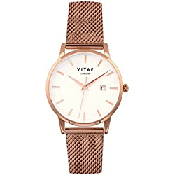 Rose Gold Walmer 34mm Watch by Vitae London