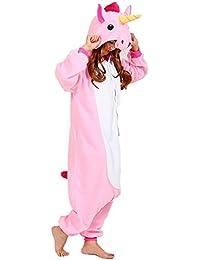 Pijama Kigurumi - Pijama de Animal con Capucha para Adultos - Ropa de Dormir y Traje de Disfraz de Animal para Festival de Carnaval y Halloween