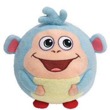 Dora the explorer - Boots Plush - The Small Monkey Ball - Beanie Ballz - 12.7cm 5""