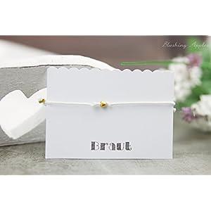 Hochzeit / Junggesellinnenabschied / Gastgeschenke - Armband mit kleiner Herzperle in der Farbe Gold