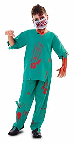 KINDERKOSTÜM - ZOMBIE ARZT - Größe 130-140 cm ( 10-12 Jahre ) (10. Doktor-kostüm-hemd)